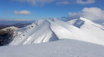 Winter mountain landscape - Low Tatras