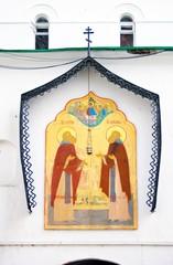 Religious icon in Trinity Sergius Lavra