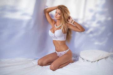 Sexy beautiful woman in lingerie