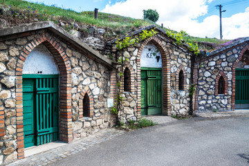 Wine cellars in village Kobyli