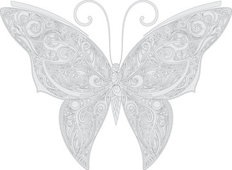 Openwork butterfly outline