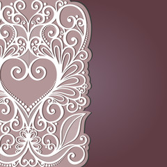 Vector Background with Heart. Valentine's Day