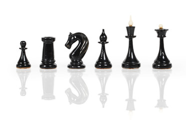 Black chess figures