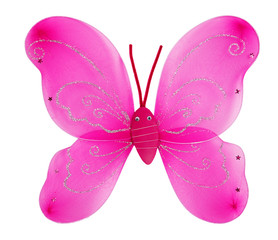 Decorative pink butterfly wings