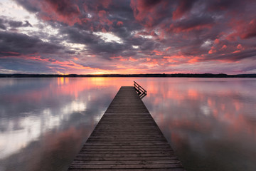 Abends am Starnberger See