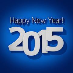2015 blue greeting card