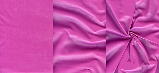 Set of pink leather textures