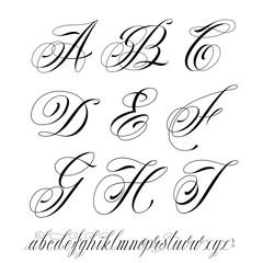Tattoo style alphabet