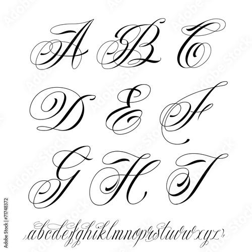 """Gut gemocht Tattoo style alphabet"""" fichier vectoriel libre de droits sur la  MR07"""