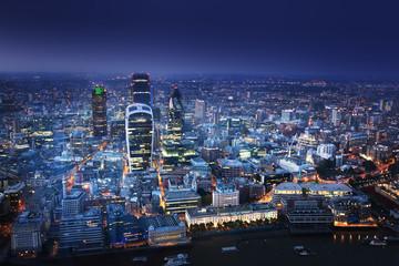 Photo sur Plexiglas Londres City of London At Sunset