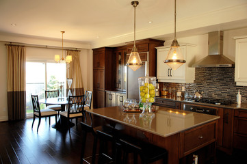A nice kitchen in model home.