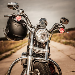 Fototapete - Motorcycle on the road