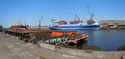 Panoramic view of harbour