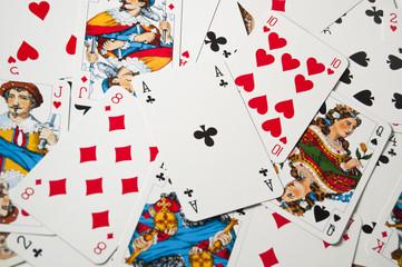 Fototapeta rzucone karty z asem obraz