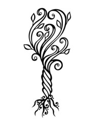 Decorative Tree (Vector), Patterned design