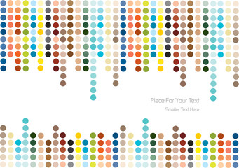 color vector polka dots background
