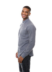Handsome african american man smiling