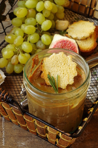 печеночный паштет с виноградом