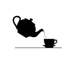 tea icon vector silhouette