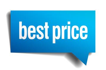 best price blue 3d realistic paper speech bubble