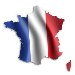 Fototapeta francja flaga wektor