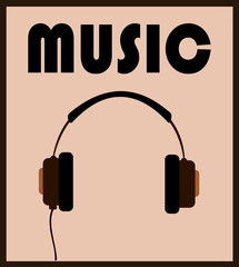music headphones graphic design