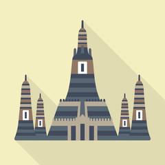 Thai temple vector icon