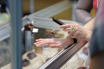 Young woman at a jeweler