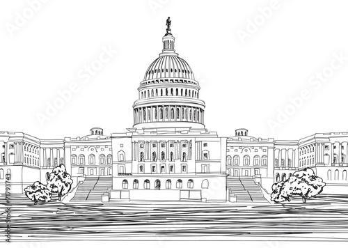 Quot Washington Dc United States Capitol Hill Usa Sketch