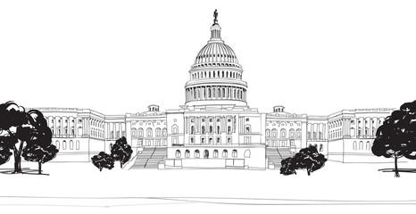 Washington DC. United States Capitol hill, US Capitol dome.