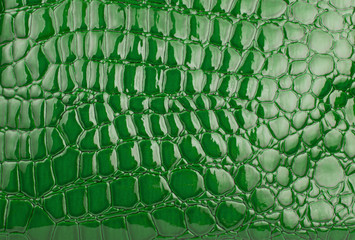 Green  alligator / crocodile skin leather (wallpaper,background)