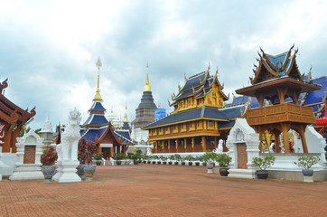 Ancient pagoda temple in Chiang Mai, Thailand.