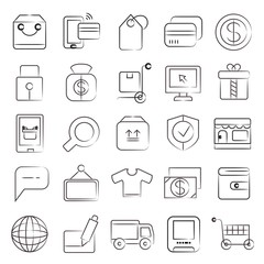 sketch shopping, e commerce icons
