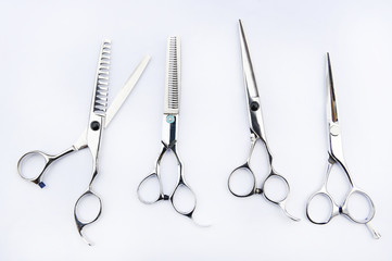hairdresser's tools isolated on white background