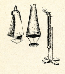 Old lanterns and splinter holder from Poland