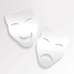 Vector Illustration of Carnival Masks