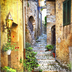 charming old streets of mediterranean - 71817995