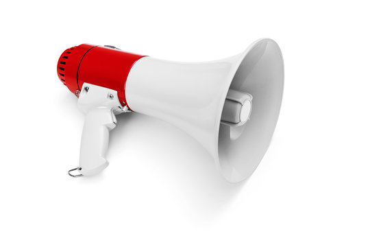 Megaphone isolated on white -Clipping Path