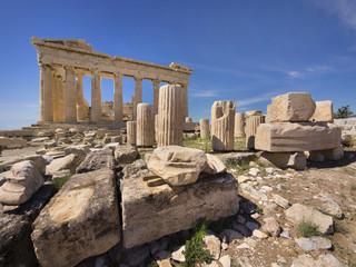 Poster Athens Parthenon temple on the Acropolis of Athens,Greece