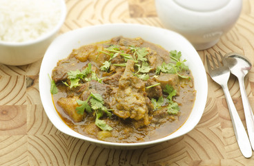 Yummy mutton curry with rice