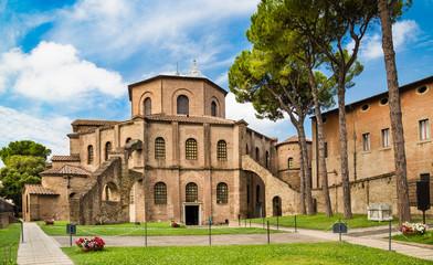 Famous Basilica di San Vitale in Ravenna, Italy Wall mural