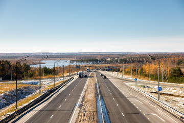 road landscape in autumn