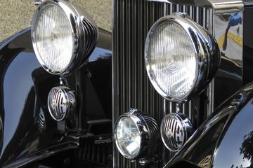 クラシックカーのヘッドライト