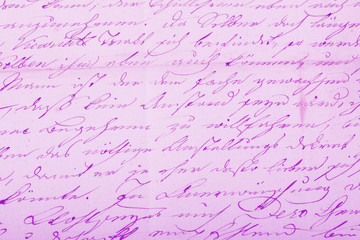 Old handwritten text pattern for background or as wallpaper