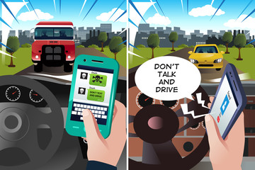 "Concept of ""don't text and drive"" and ""don't talk and drive"""