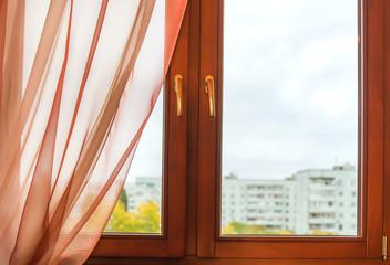 Window in wooden frame