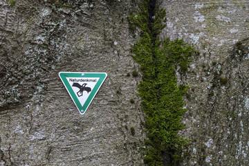 Schild Naturdenkmal