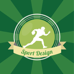 american football sport illustration over green color background