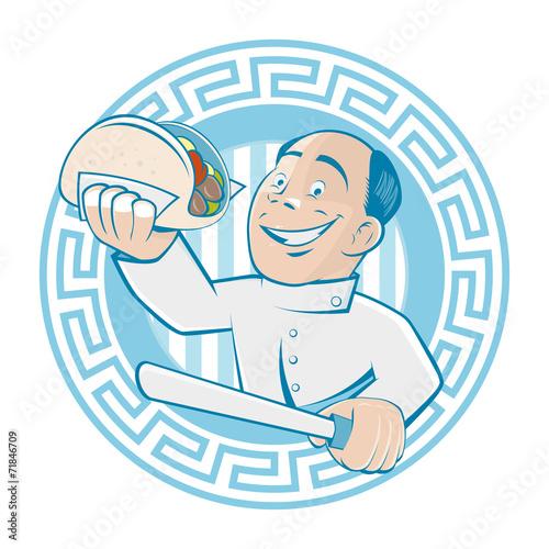 """""""griechisch essen grieche gyros restaurant"""" Stockfotos und ..."""