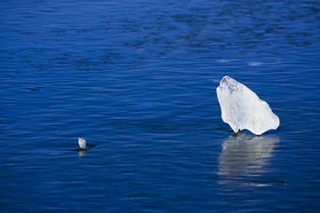 Cool blue ice.
